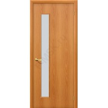 Дверь строительная Гост ПО-1 в цвете Л-12 (МиланОрех) остекленная. (Товар № ZF44)