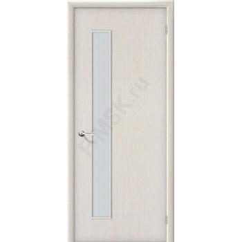 Дверь строительная Гост ПО-1 в цвете Л-21 (БелДуб) остекленная. (Товар № ZF40)