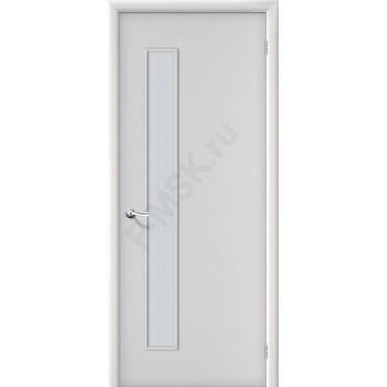 Дверь строительная Гост ПО-1 в цвете Л-23 (Белый) остекленная. (Товар № ZF52)