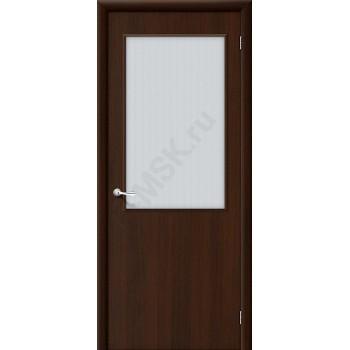 Дверь строительная Гост ПО-2 в цвете Л-13 (Венге) остекленная. (Товар № ZF48)