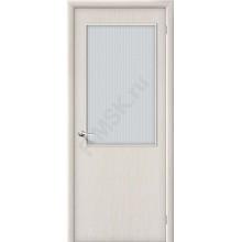 Дверь строительная Гост ПО-2 в цвете Л-21 (БелДуб) остекленная. (Товар № ZF46)