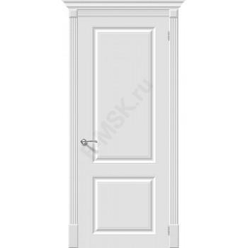 Дверь эмаль Скинни-12 в цвете Whitey (Товар № ZF66)