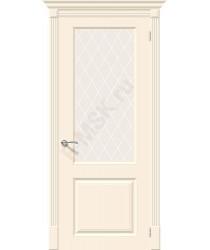 Дверь эмаль Скинни-13 в цвете Cream остекленная Полотно 200*80 (1 шт.) (Товар № ZF197020)