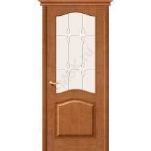 Межкомнатная дверь из Массива М7 ПО светлый лак Белорусские двери Цвет: Светлый лак Остекленная (Товар №  ZF1206)