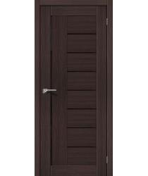 Дверь экошпон Серия Porta X Порта-29 в цвете Wenge Veralinga/Black Star остекленная (Товар № ZF105545)