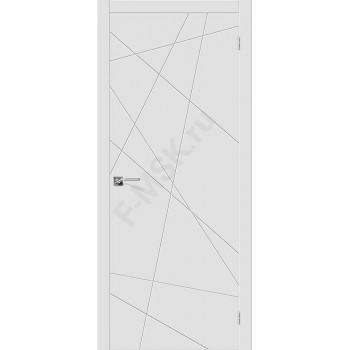 Дверь эмаль Скинни-5 в цвете Whitey (Товар № ZF107691)