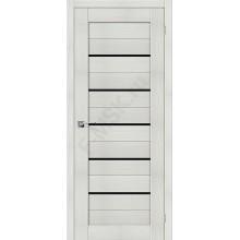 Дверь экошпон Серия Porta X Порта-22 в цвете Bianco Veralinga/Black Star остекленная (Товар № ZF58973)