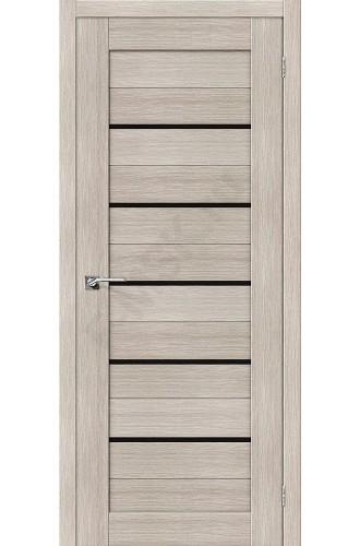Дверь экошпон Серия Porta X Порта-22 в цвете Cappuccino Veralinga/Black Star остекленная (Товар № ZF58972)