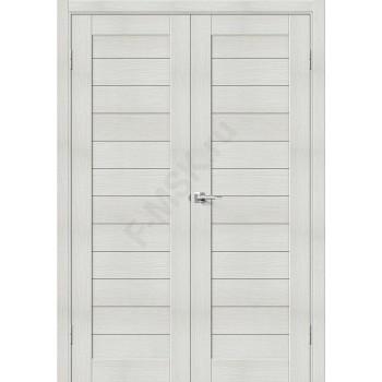 Дверь экошпон Порта-21 (2П-03) в цвете Bianco Veralinga (Товар № ZF111554)
