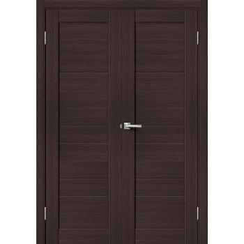 Дверь экошпон Порта-21 (2П-03) в цвете Wenge Veralinga (Товар № ZF111556)