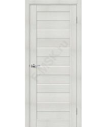 Дверь экошпон Порта-22 (1П-03) в цвете Bianco Veralinga остекленная (Товар № ZF111560)