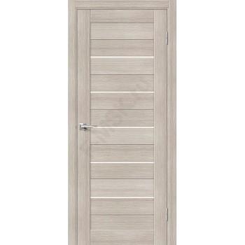 Дверь экошпон Порта-22 (1П-03) в цвете Cappuccino Veralinga остекленная (Товар № ZF111561)