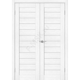Дверь экошпон Порта-21 (2П-03) в цвете Snow Veralinga (Товар № ZF113981)