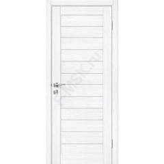 Дверь экошпон Порта-22 (1П-02) в цвете Snow Veralinga остекленная (Товар № ZF113982)