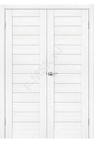 Дверь экошпон Порта-22 (2П-03) в цвете Snow Veralinga остекленная (Товар № ZF113984)