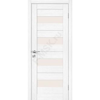 Дверь экошпон Порта-23 (1П-02) в цвете Snow Veralinga остекленная (Товар № ZF113985)