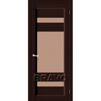 Межкомнатная дверь из Массива Леон ПО венге Vi LARIO Цвет: Венге Остекленная (Товар №  ZF4269)