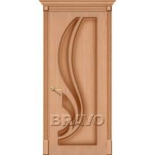 Межкомнатная шпонированная дверь Лилия ПГ дуб файн-лайн BRAVO Цвет: Дуб файн-лайн Глухая (Товар №  ZF8934)