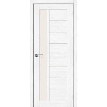 Дверь межкомнатная Эко Шпон Порта-27 Snow Veralinga стекло Magic Fog (Товар № ZF193439)