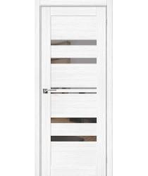 Дверь межкомнатная Эко Шпон Порта-30 Snow Veralinga зеркало Mirox Grey (Товар № ZF193441)