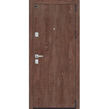 Входная металлическая дверь Браво Porta M 8.Л28 в цвете Chalet Grande / Chalet Provence |Полотно 98 мм, Металл 1.2 мм, Вес 100 кг (Товар № ZF193438)