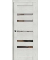 Дверь межкомнатная Эко Шпон Порта-30 Bianco Veralinga зеркало Mirox Grey (Товар № ZF193442)