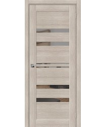 Дверь межкомнатная Эко Шпон Порта-30 Cappuccino Veralinga зеркало Mirox Grey (Товар № ZF193445)