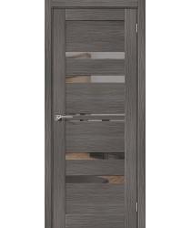 Дверь межкомнатная Эко Шпон Порта-30 Grey Veralinga зеркало Mirox Grey (Товар № ZF193444)