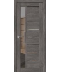 Дверь межкомнатная Эко Шпон Порта-27 Grey Veralinga зеркало Mirox Grey (Товар № ZF193450)