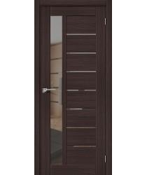 Дверь межкомнатная Эко Шпон Порта-27 Wenge Veralinga зеркало Mirox Grey (Товар № ZF193454)