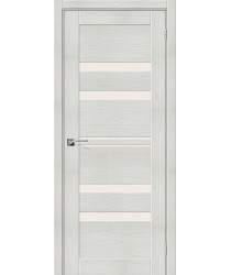 Дверь межкомнатная Эко Шпон Порта-30 Bianco Veralinga стекло Magic Fog (Товар № ZF193449)