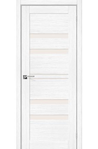 Дверь межкомнатная Эко Шпон Порта-30 Snow Veralinga стекло Magic Fog (Товар № ZF193448)