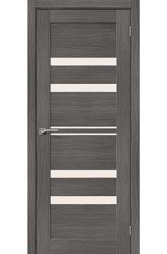 Дверь межкомнатная Эко Шпон Порта-30 Grey Veralinga стекло Magic Fog (Товар № ZF193451)