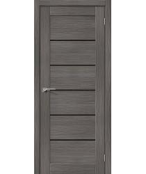 Дверь межкомнатная Эко Шпон Порта-22 Grey Veralinga стекло Black Star (Товар № ZF193458)