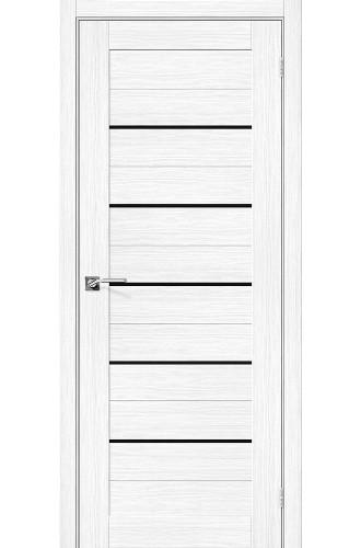 Дверь межкомнатная Эко Шпон Порта-22 Snow Veralinga стекло Black Star (Товар № ZF193455)