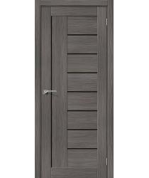 Дверь межкомнатная Эко Шпон Порта-29 Grey Veralinga стекло Black Star (Товар № ZF193464)