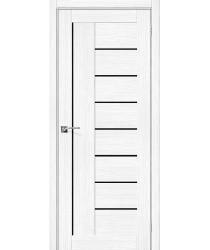 Дверь межкомнатная Эко Шпон Порта-29 Snow Veralinga стекло Black Star (Товар № ZF193465)
