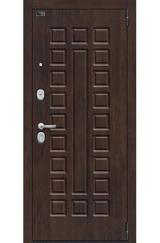 Входная металлическая дверь Браво Porta S 51.П61 (Урбан) Almon 28 / Cappuccino Veralinga, с зеркалом |Полотно 90 мм, Металл 1.2 мм, Вес 88 кг (Товар № ZF193375)