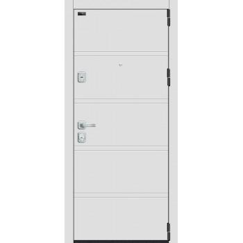 Входная металлическая дверь Браво Porta M 8.Л28 в цвете White Stark / Virgin |Полотно 98 мм, Металл 1.2 мм, Вес 100 кг (Товар № ZF193393)