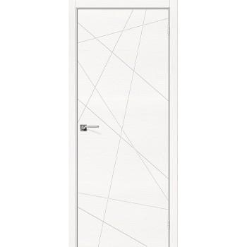 Дверь межкомнатная шпонированная (шпон натуральный) Вуд Арт-5.H Whitey (Товар № ZF190761)