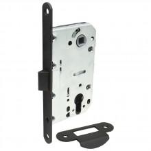 Замок с пластиковым язычком для межкомнатной двери Bravo P-3-CL МатЧерный (Товар № ZF190748)
