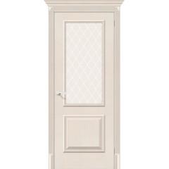 Дверь экошпон Классико-13 в цвете Cappuccino Softwood остекленная