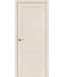 Дверь экошпон Легно-28 в цвете Cappuccino Softwood остекленная