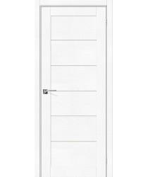 Дверь экошпон Легно-22 в цвете White Softwood остекленная