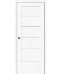 Дверь экошпон Легно-28 в цвете White Softwood остекленная