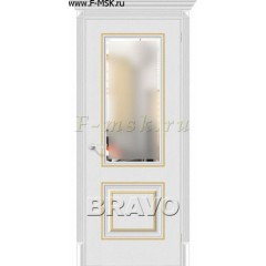 Межкомнатная дверь экошпон Классико-33G-27 в цвете Virgin остекленная (Товар № ZF46983)
