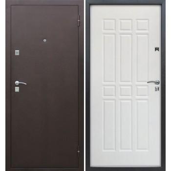 Входная металлическая дверь Цитадель Сопрано в цвете Медный антик / Дуб молочный |Полотно 70 см, Металл 1 мм, Вес 50 кг (Товар № ZF104432)