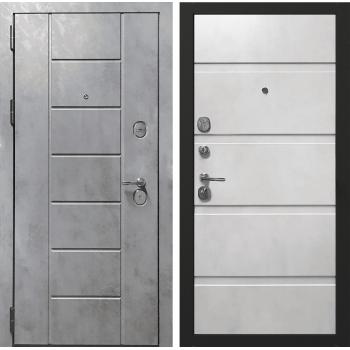 Входная металлическая дверь Берсеркер Квартирная FLAT STOUT X 41 в цвете Бетон тёмный / Бетон крем |Полотно 120 мм, Металл 1.2 мм, Вес 87 кг (Товар № ZF194437)