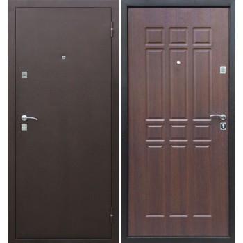 Входная металлическая дверь Цитадель Сопрано в цвете Медный антик / Дуб шоколадный |Полотно 70 см, Металл 1 мм, Вес 50 кг (Товар № ZF104433)