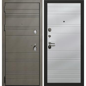 Входная металлическая дверь Берсеркер Квартирная FLAT STOUT X 40 в цвете Силк куантро / Белый |Полотно 120 мм, Металл 1.2 мм, Вес 87 кг (Товар № ZF194442)